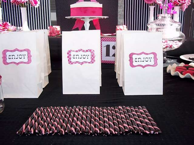 Hot Pink And Black Birthday Party Ideas