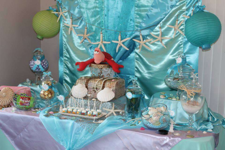 The Little Mermaid Tea Party Party Ideas Photo 5 Of 20