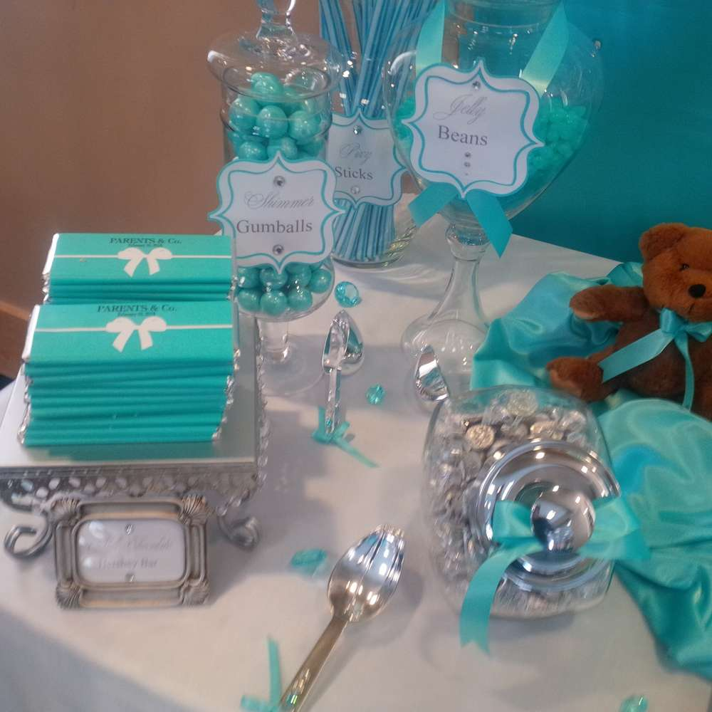 TIFFANY Amp CO Baby Shower Party Ideas Photo 7 Of 29