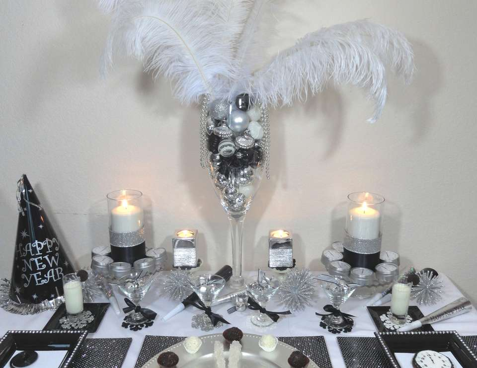Black White And Silver New Years New Years Eve Party