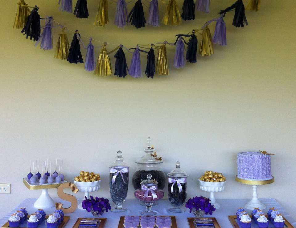Purple Gold And Butterflies Birthday Serenes 7th