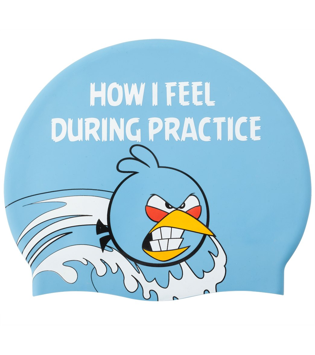 Angry Birds Practice Emotions Silicone Swim Cap At