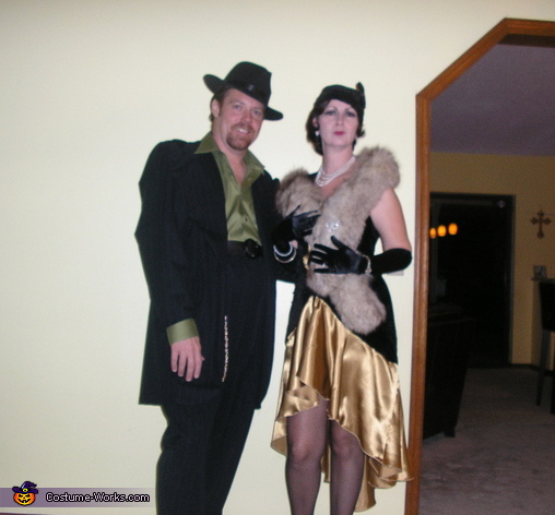 couple nightmare lovers fancy dress costume source flapper and gangster couple halloween costumes hallowen org