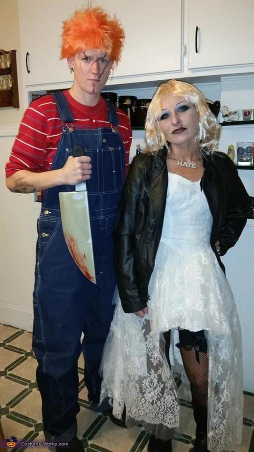 chucky and bride of couple s halloween costume idea