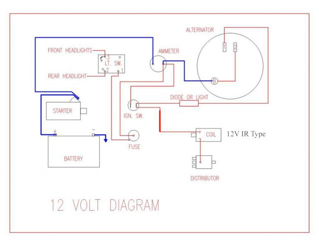 normal_12VOLTWIRINGDIAGRAMModel1_copy 12 volt generator wiring diagram dolgular com farmall h 12 volt wiring diagram at suagrazia.org