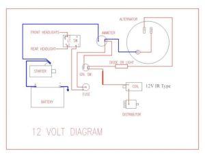Wiring Diagram for Key Start & 12 Volt Alternator