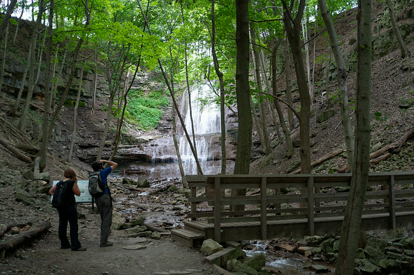 What an unexpected treat to pass by Sherman's Falls.