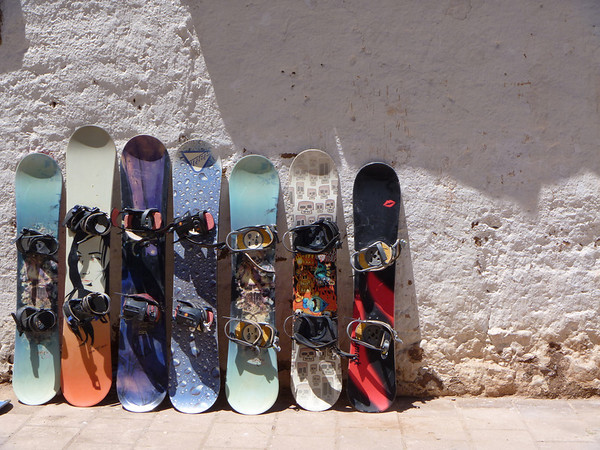 Some really cool snowboard designs I spotted in Chile