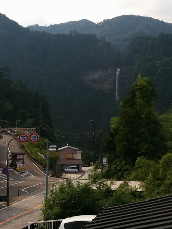 The view of Nachi-taki falls from the Mitaki-sanso inn.