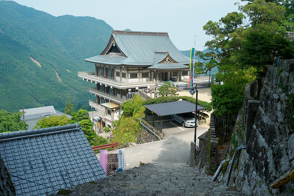Arriving in Nachi-san and pretty tired of steps but in awe of the view.