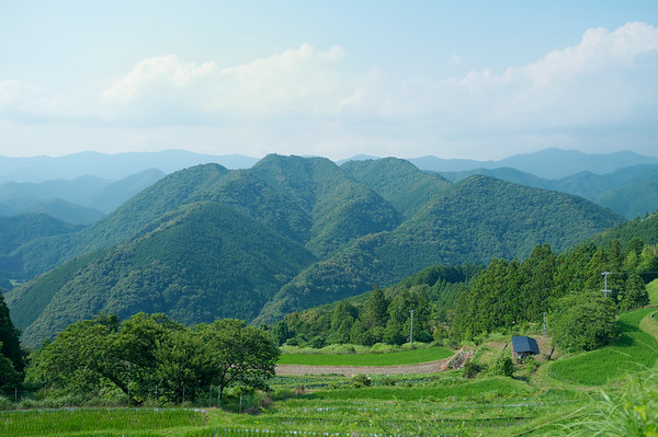 A beautiful view from the rest area in Takahara