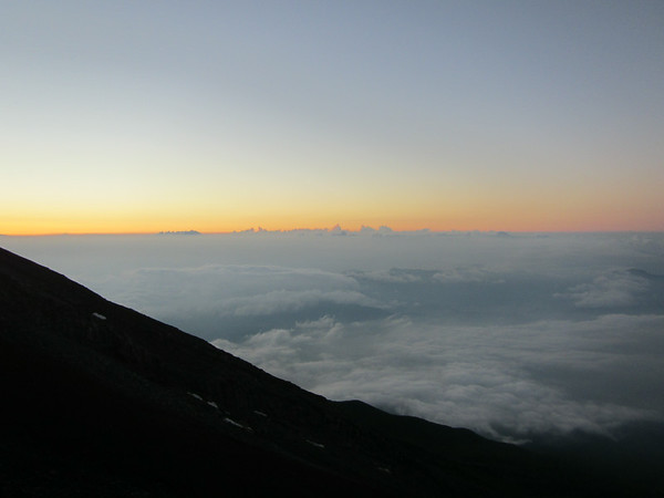 Sunset on the way up Mt. Fuji