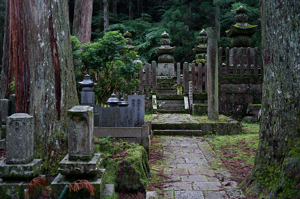 A part of the cemetery in Okuno-in.