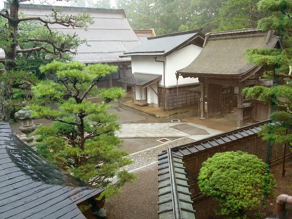 Just as I had arrived at the monastery, it was pouring rain.  The woman who welcomed me was very kind and even offered a towel to help dry off.  This is the view from my room.  Even in the rain, it was tranquil and beautiful.
