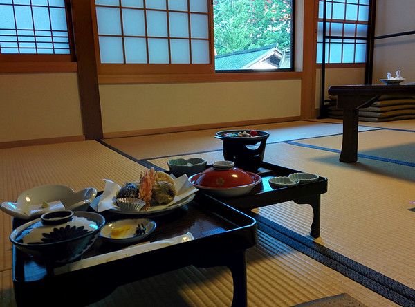 I was informed to sit facing the garden looking out the window whilst eating.  FYI the tempura was amazing.