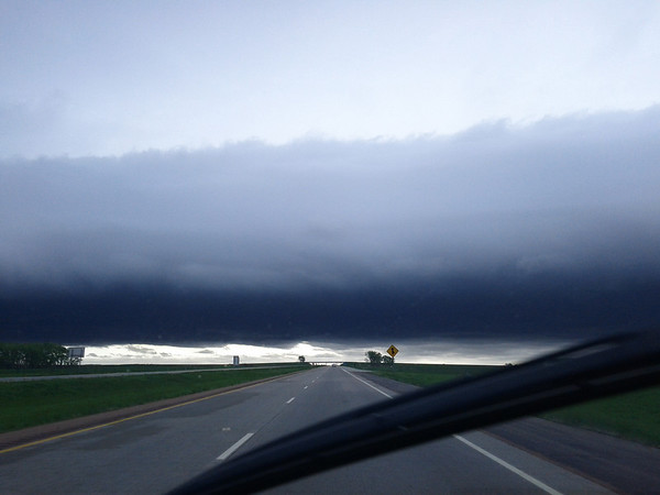A crazy storm on the way back home