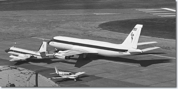 The Lisa Marie, the newest craft in Elvis Presley's small air fleet, is at Memphis International Airport on November 12, 1975, getting final touches before being put to use for touring. The converted Convair 880, formerly used by Delta Air Lines, is named for the entertainer's daughter. It was bought for $1 million and it took another $750,000 to fix it to his taste in Forth Worth, Texas. While not as elaborate as some reports have had it, the plane should be quite comfortable for the Memphian and his personal crew.