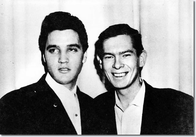 Elvis and Johnnie Ray, January 1962 : Backstage after Ray's Opening at the Dunes Hotel
