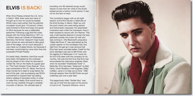 From the booklet : Elvis Is Back! Legacy Edition