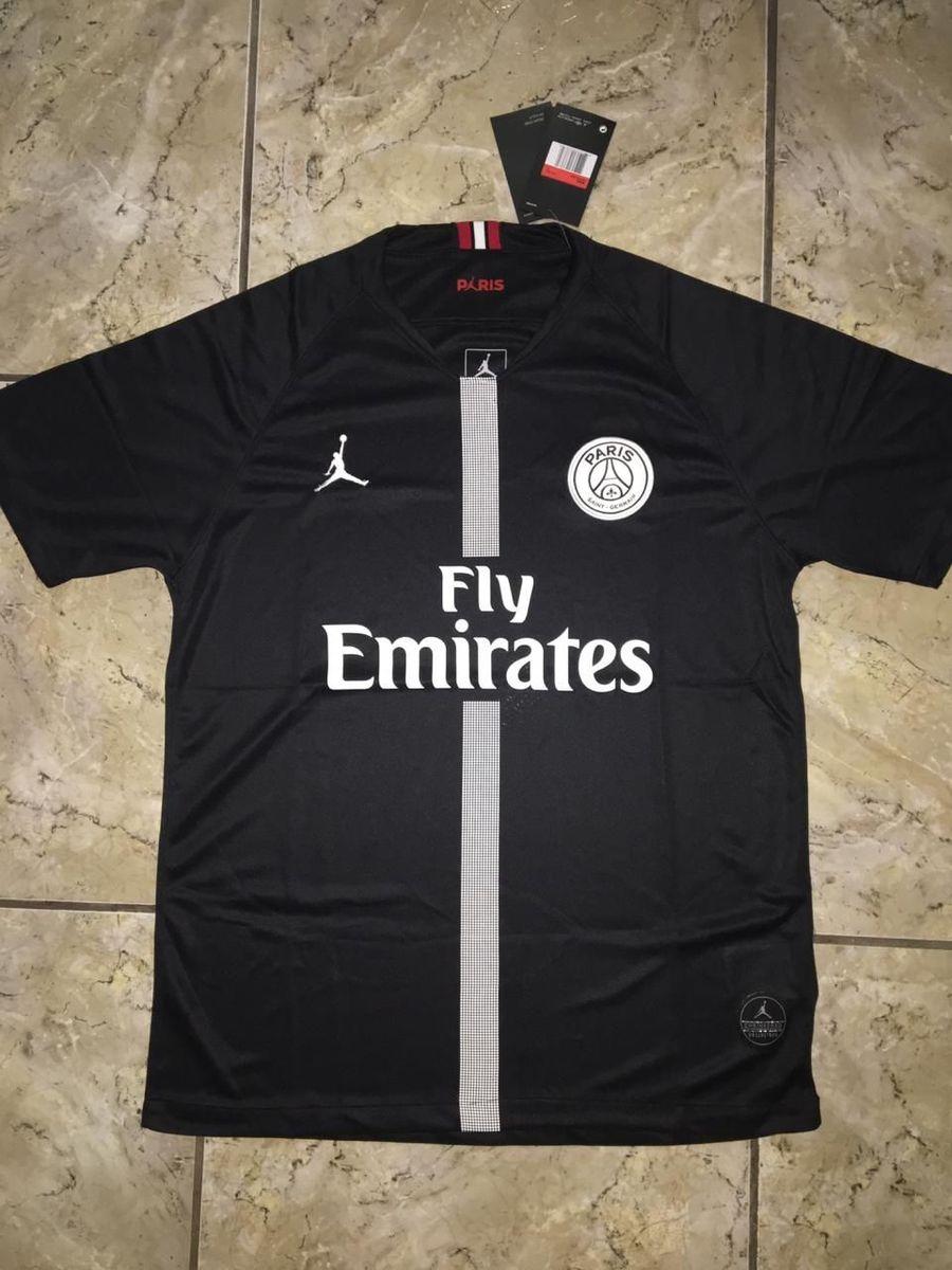 camisa paris saint germain x jordan home 18 19 camisa masculina nike nunca usado 34002086 enjoei