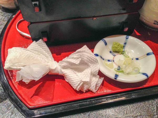 Japanese Food: Fold your napkin