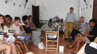 En fin de matinée, Miguel vient nous parler de la région de Poceirão Aguas de Moura