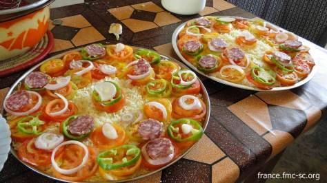 La décoration culinaire est au rendez-vous..