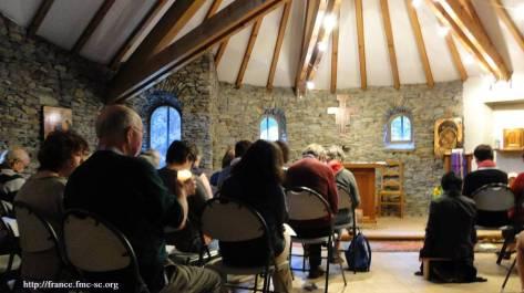 Lectio du matin à la chapelle