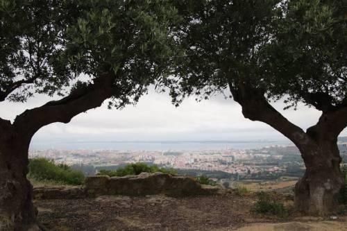 Vu sur Setubal avec un temps gris