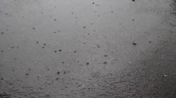 La pluie orageuse nous a ratrappés