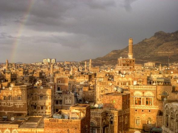 sanaa yemen rainbow