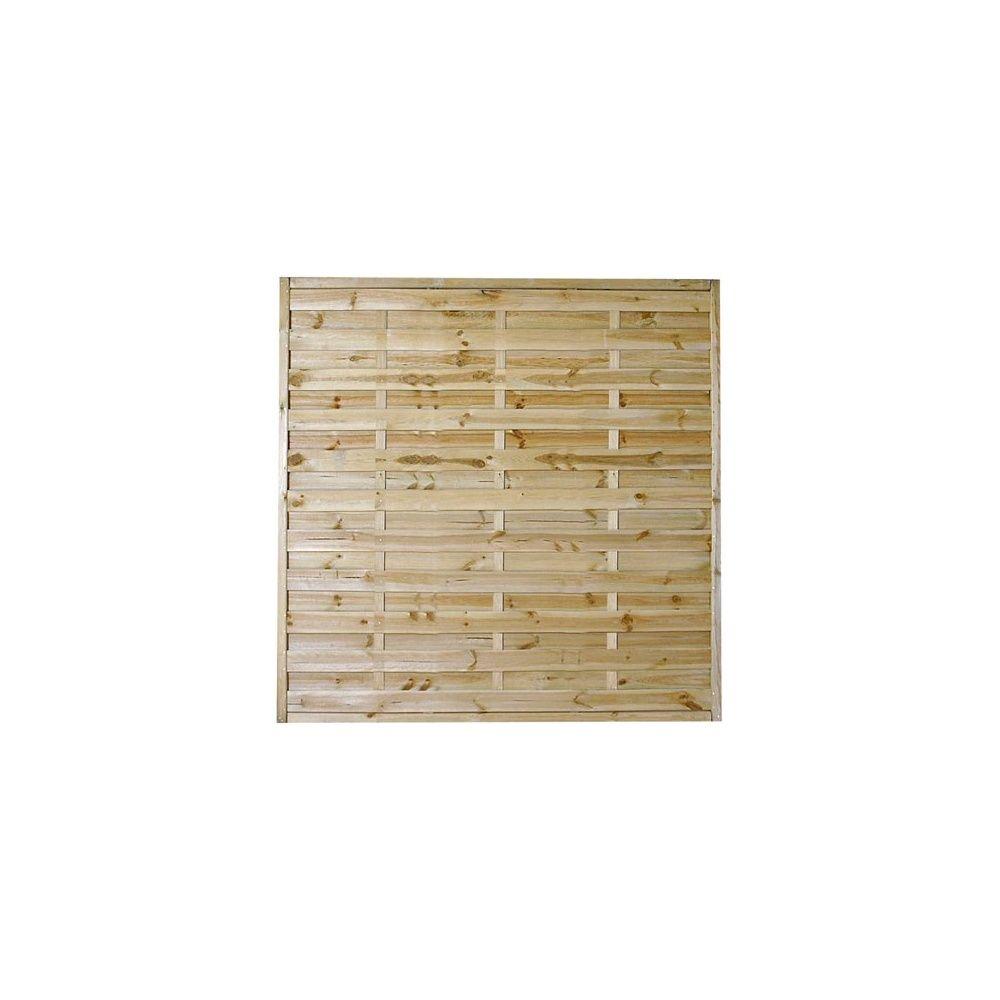 panneaux decoratifs lot de 10 droits en bois pour cloture ou occultation 180x180
