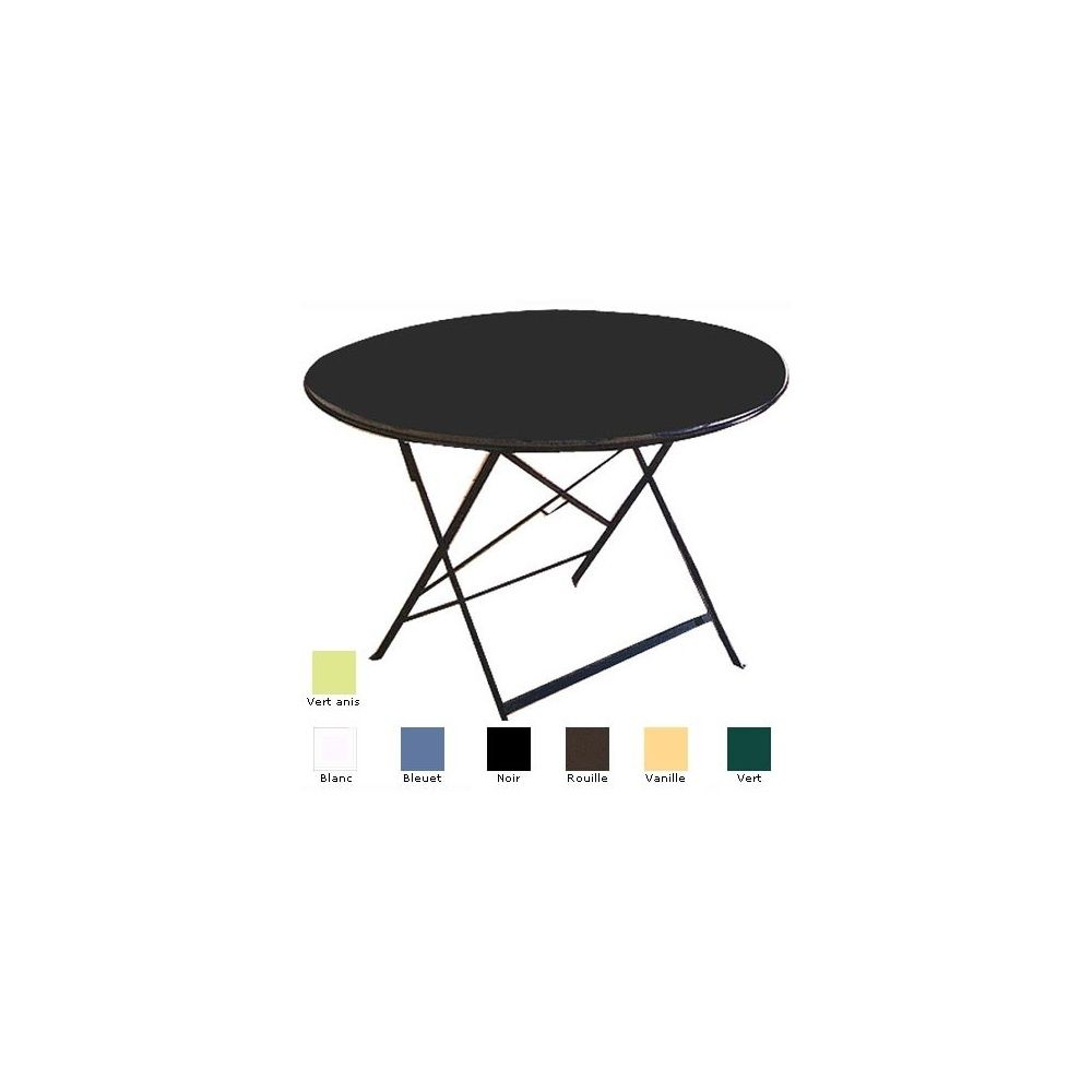table pliante ronde vanille diametre 96cm collection flore