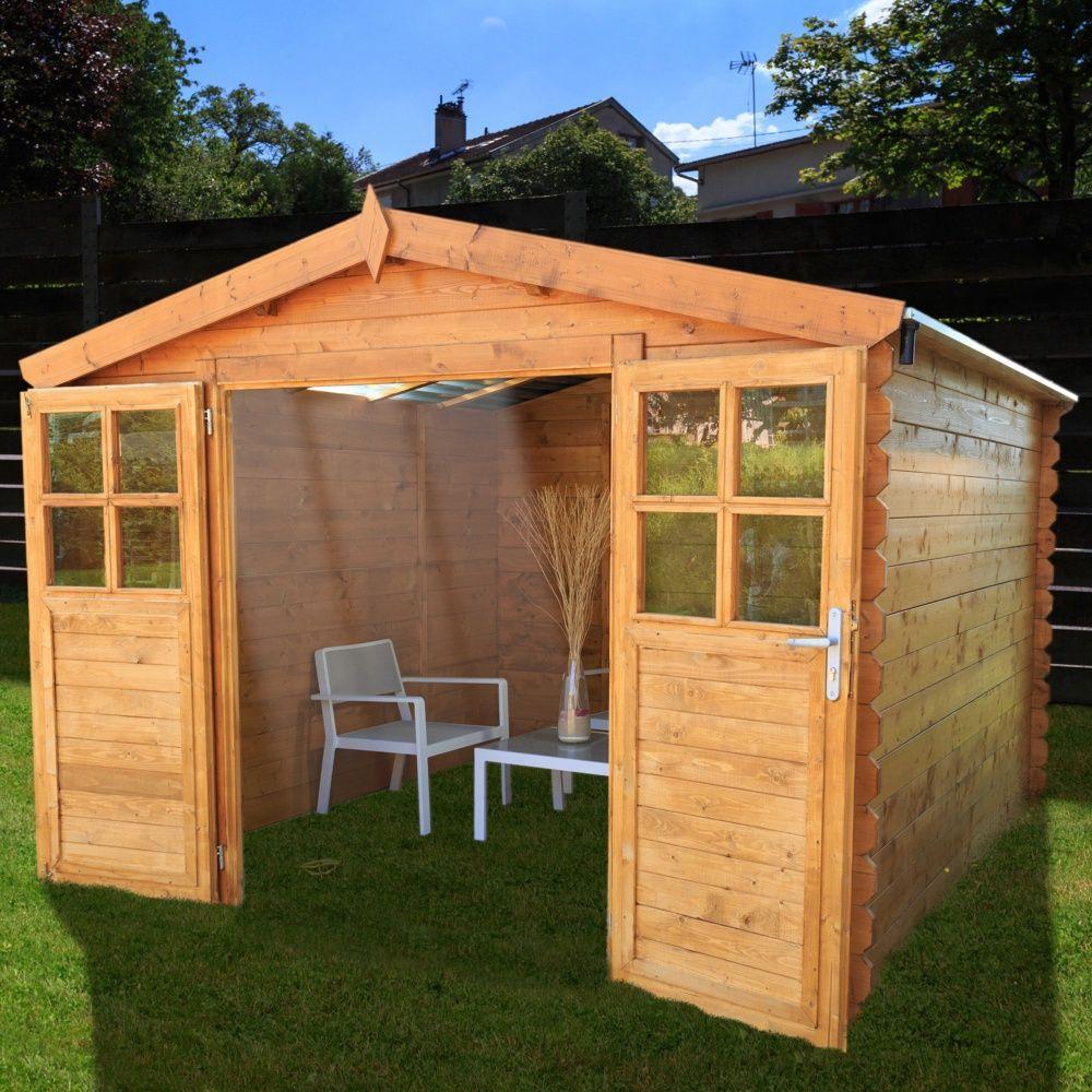 abri de jardin bois toit polycarbonate 12 52 m ep 28 mm soleil