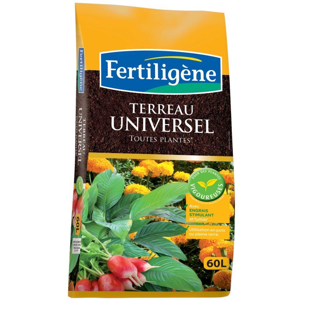 terreau universel 60 l enrichi en engrais fertiligene