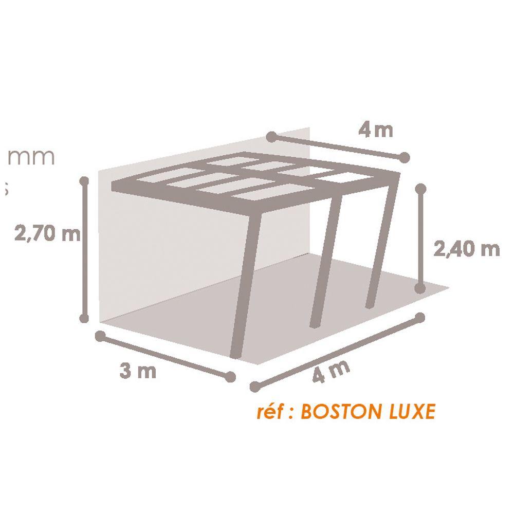 tonnelle adossee aluminium 4x4 m stores enroulables boston luxe