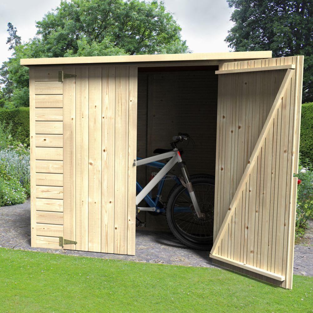 remise de jardin bois bike box 1 88 m ep 12 mm