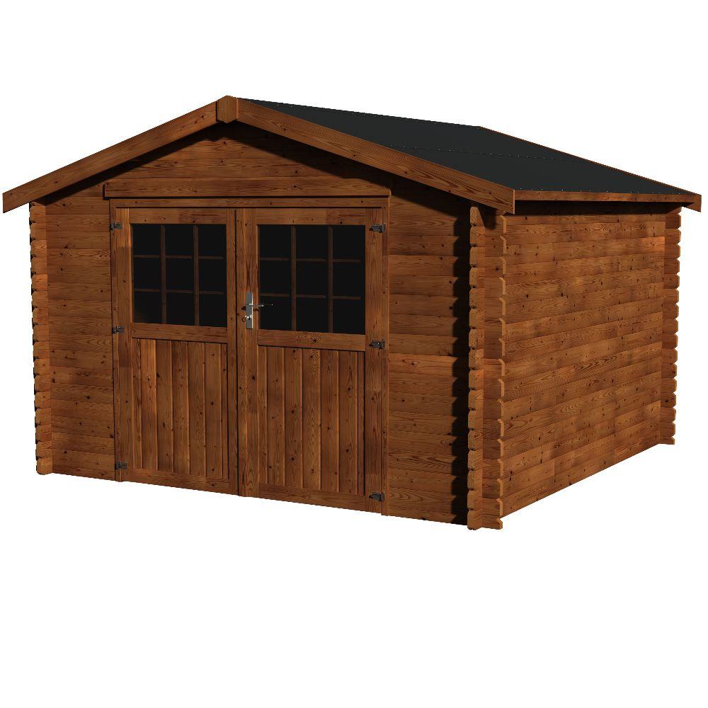abri de jardin bois traite autoclave valodeal 9 m ep 34 mm