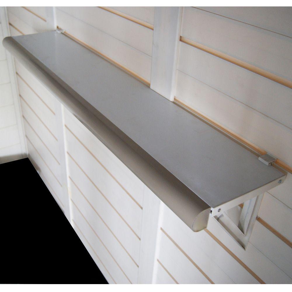 kit de 2 etageres murales pour abris resine evo