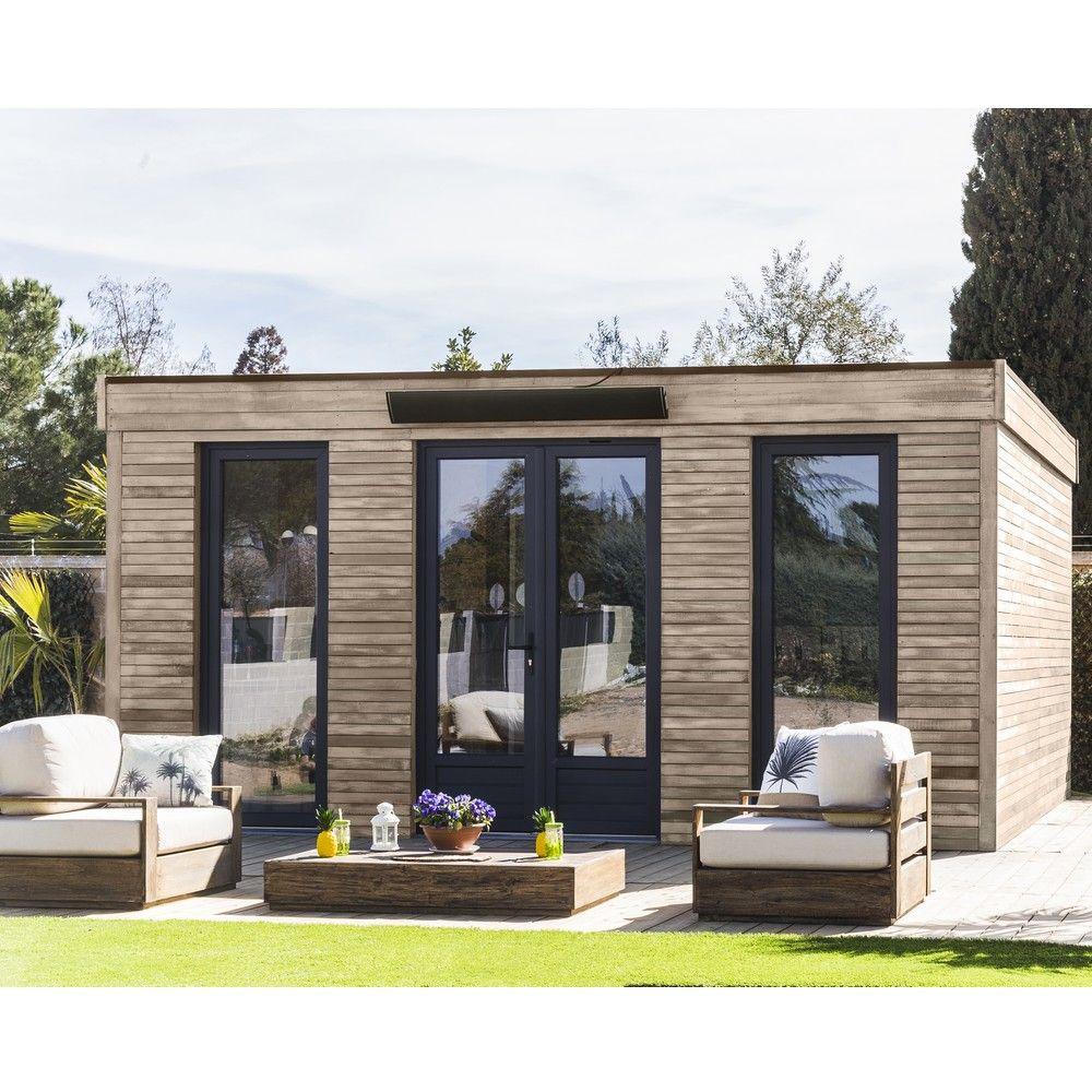 abri de jardin semi habitable toit plat decor home 24 70 m ep 90 mm