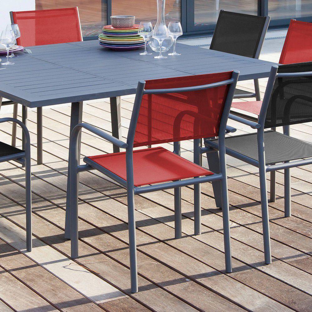 salon de jardin proloisirs barcelona 8 pers en aluminium