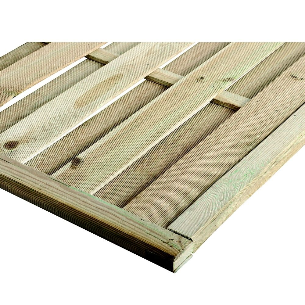 panneau occultant arc bois traite autoclave l180 h180 cm