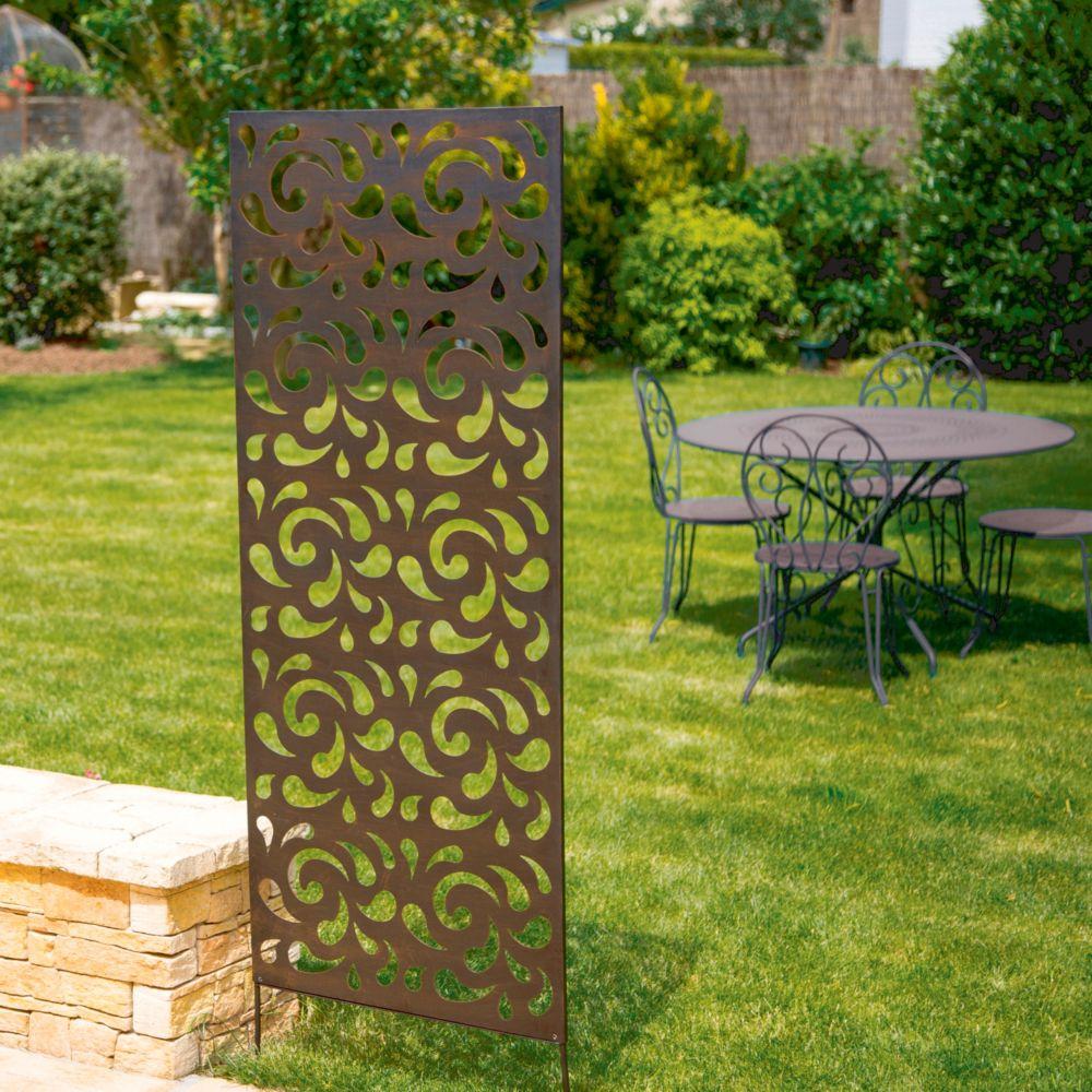 panneau decoratif nortene en metal brun