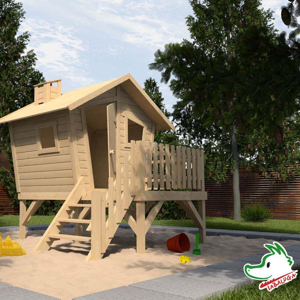 cabane de jardin bois sur pilotis tabaluga