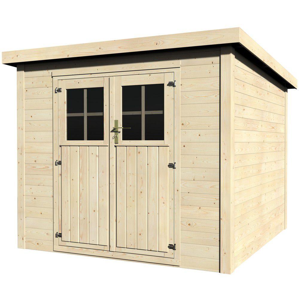 abri de jardin bois toit plat talion 5 m ep 19 mm
