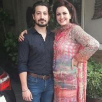 Actress Saba Faisal with her son