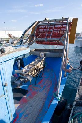 Shell-fishing boat, Margherita di Savoia