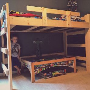 A bunk bed befitting the boy