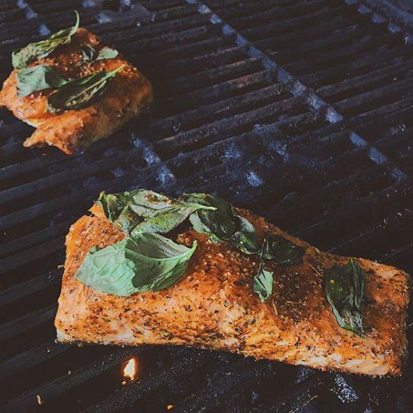 salmon + basil
