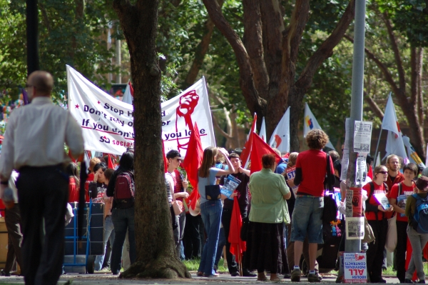 Workplace rights demonstration 3